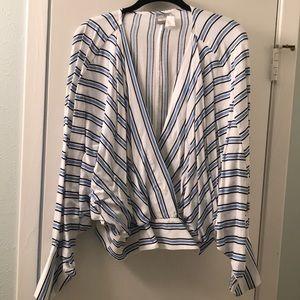 Asos blue stripped long sleeve